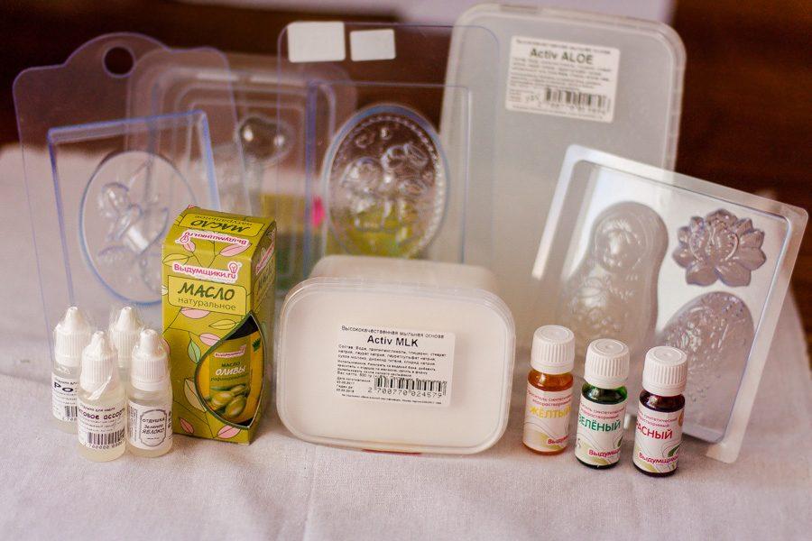 Все ингредиенты для мыловарения
